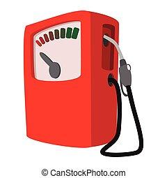 Gas station cartoon icon