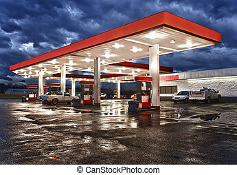 Gas Station Convenience Store - A gas station convenience...