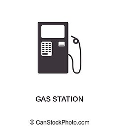 Gas Station creative icon. Simple element illustration. Gas Station concept symbol design from car parts collection. Can be used for web, mobile, web design, apps, software, print.