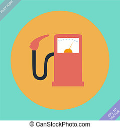 Gas station fuel pump - vector illustration.