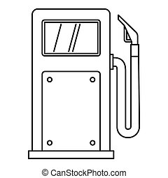 Gas station icon, outline style