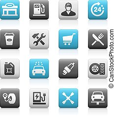 Gas Station Icons - Matte Series