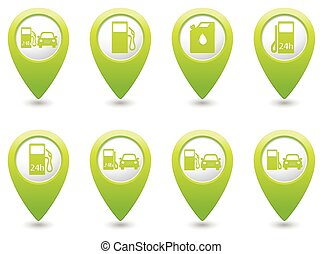 Gas station icons on map pointer