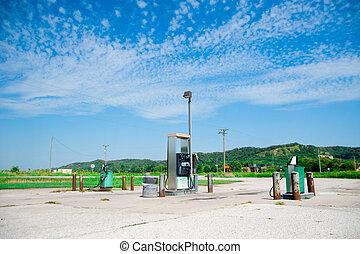 Gas Station in the country side of America