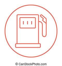 Gas station line icon. - Gas station line icon for web,...
