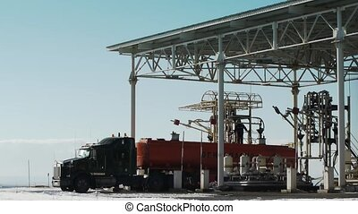 gas station operator truck