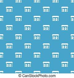 Gas station pattern seamless blue