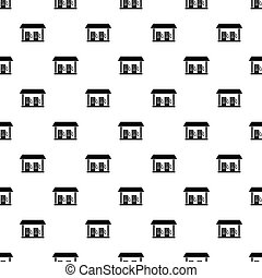 Gas station pattern vector