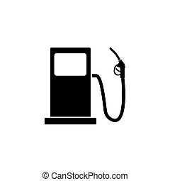 Gas station solid icon, fuel and refill sign, vector...