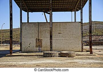 gas station trucks mine