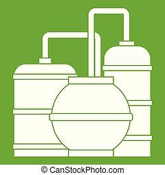 Gas storage tanks icon green