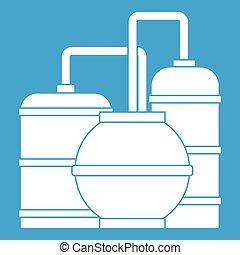 Gas storage tanks icon white
