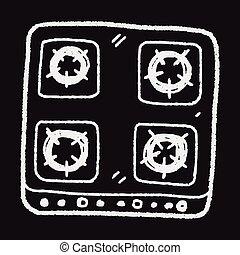 gas stove doodle