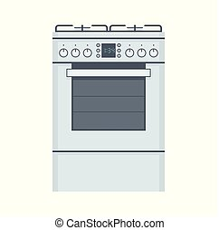 Gas stove. flat style. isolated on white background