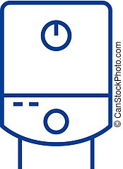 Gas tank, water boiler line icon concept. Gas tank, water boiler flat vector symbol, sign, outline illustration.
