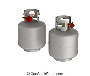 Gas Tanks - gas balloon isolated on a white background