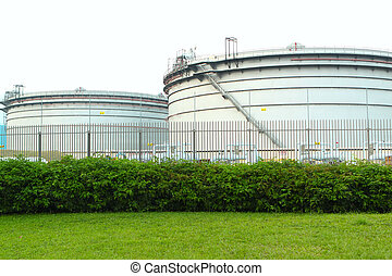 gas tanks in the industrial estate, suspension energy for...
