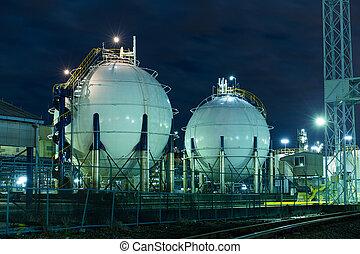 gas, tanques de almacenamiento