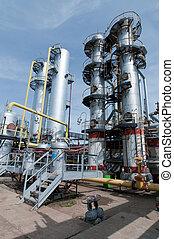gas, tillverkning av, fabrik