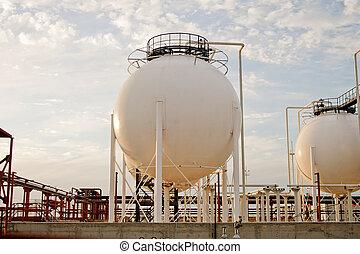 gas, tillverkning av, plant.