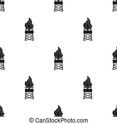 Gas tower. Oil single icon in black style vector symbol stock illustration web.