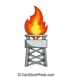 Gas tower. Oil single icon in cartoon style vector symbol stock illustration web.