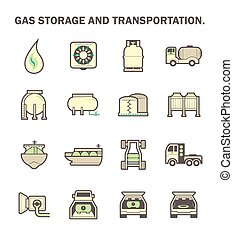Gas transportation icon