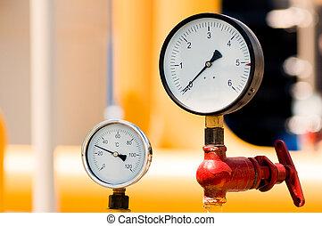 gas, tubería, natural, metro, presión