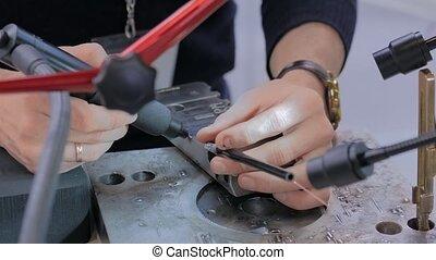 Gas tungsten arc welding (GTAW) or tungsten inert gas TIG -...