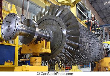Gas turbine rotor - Turbine rotor at workshop