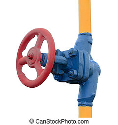Gas valve on the tube