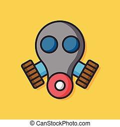 gas, vektor, maske, ikone