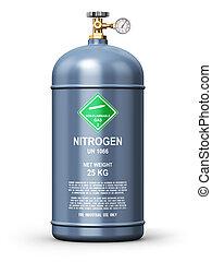 gas, verflüssigt, industrie, behälter, stickstoff