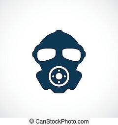 gas, vettore, maschera, icona
