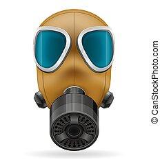 gas, vettore, maschera, illustrazione