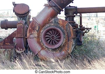 Gas works rusted metal