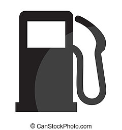 gas, zeichen, station
