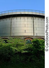 Gashouder building back