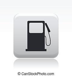 gasolina, aislado, ilustración, solo, vector, icono