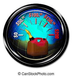 gasolina, cost.