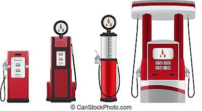 gasolina, vector, bombas, ilustración