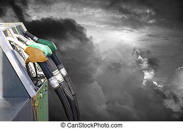 gasolina, y, contaminación