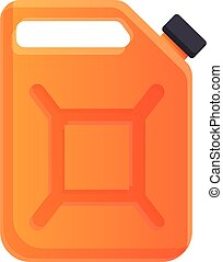 Gasoline canister icon, cartoon style
