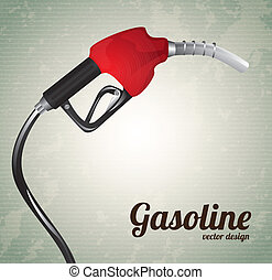gasoline dispenser over vintage background vector...