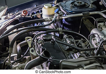 engine car repair closeup