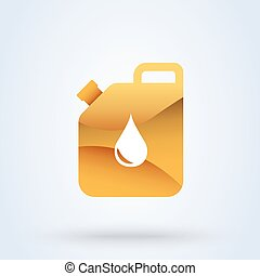 gasoline flat cute. vector modern design illustration.