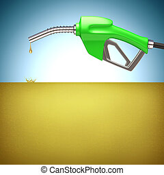 Gasoline Fuel - Gasoline fuel. Your text over the pool of...