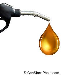Gasoline Fuel Nozzle giving a oil drop