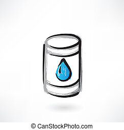 gasoline grunge icon