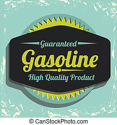 Gasoline industry - Illustration of the gasoline industry,...